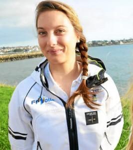 Aloïse Retornaz sportive ISEN voile haut niveau au pôle France de Brest, championne du monde moins de 21 ans.